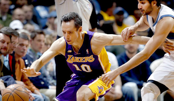 Lakers guard Steve Nash