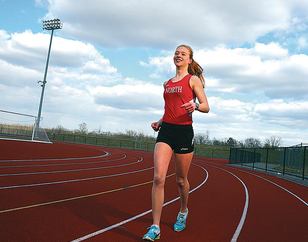 North Hagerstown junior Emily Ward is The Herald-Mail's 2012-13 Washington County Girls Indoor Track & Field Athlete of the Year.