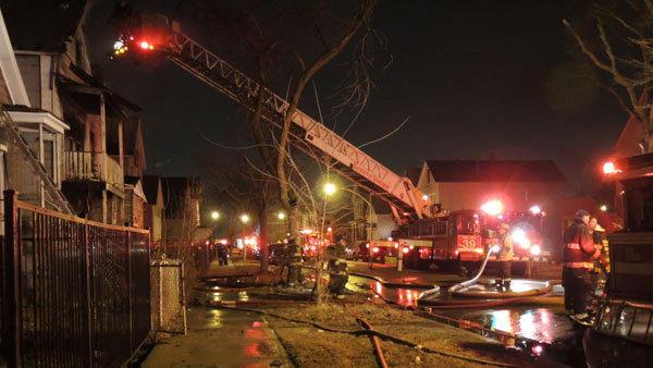 A fire in the 5100 block of SOuth WOlcott Avenue.