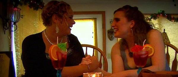 """Lauren Clarke, left, and Sarah Elizabeth in """"Women of the Day."""""""