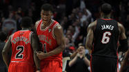 <strong>The undermanned Bulls ended the Heat's 27-game winning streak</strong> Wednesday night, and of course the 1972 Miami Dolphins popped champagne. Or something like that.