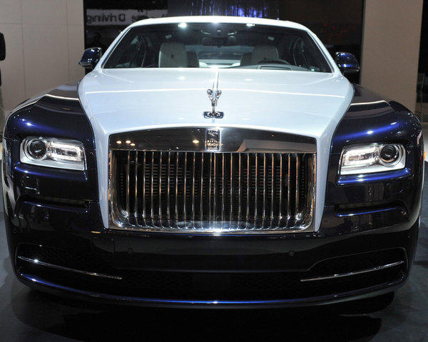 A Rolls Royce Wraith on display at the 2013 New York International Auto Show on Thursday.