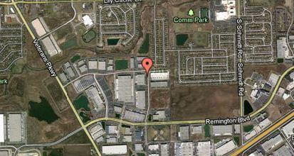 Map of Remington Lake Business Park in Bolingbrook.
