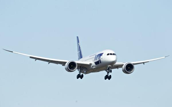 Boeing 787 Dreamliner, operated by LOT Polish Airlines, during a recent test flight.
