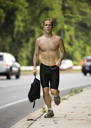 Dr. Ted Houk, shown in this file photo, runs every morning from his home in Lutherville along N. Charles St. to work at the Greater Baltimore Medical Center in Towson.