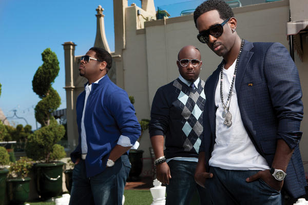 Shawn Stockman, far right, of Boyz II Men says the trio likes to get the audience involved in their live shows.