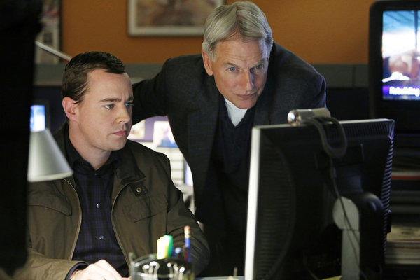 "CBS owns a stable of lucrative shows, including ""NCIS."" Pictured Sean Murray, left, and Mark Harmon in a scene from ""NCIS."""