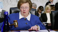Food safety groups are ramping up pressure on Sen. Barbara A. Mikulski over language included in a government funding bill that would make it harder for courts to block the planting of genetically engineered crops.