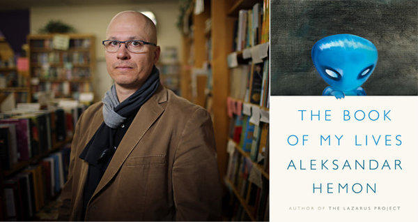 Author Aleksandar Hemon and the cover of his book, 'The Book of My Lives'.