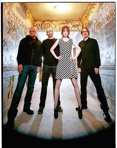 Garbage drummer Butch Vig (far right), with bandmates Steve Marker (left), Duke Erikson and Shirley Manson.