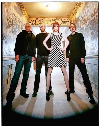 Garbage drummer Butch Vig (far right), with bandmates Steve Marker (left), Duke Erikson and Shirley Manson.
