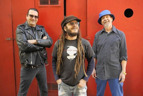 Former Black Flag members guitarist Dez Cadena, left, vocalist Keith Morris and bassist Chuck Dukowski are regrouping as Flag.