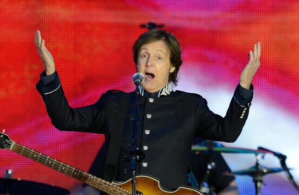 Beatles rocker Paul McCartney performs at the Queen's Diamond Jubilee Concert at Buckingham Palace in London on June 4.