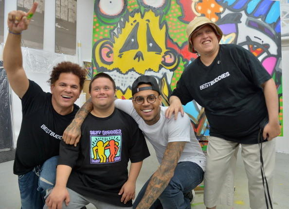 Celeb-spotting around South Florida - Chris Brown Joins Forces With Artist Romero Britto in Support of Best Buddies International