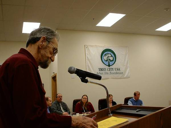 "During public comment at the March 26 Homer Glen Village Board meeting, Homer Glen resident and business owner Bob Schmidt, who co-owns with his wife Wheel-Go Camping on 159th Street, said he's opposed to plans to install raised barrier medians on 159th. He said they would be ""catastrophic to business development."""