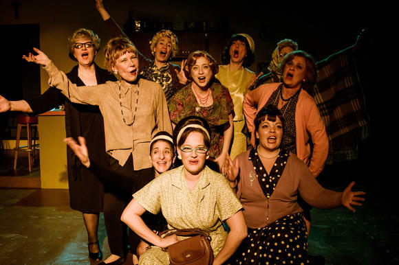 Cast of 'Les Belles Soeurs' at Fells Point Corner Theatre