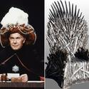 Johnny Carson, Iron Throne from 'Game of Thrones'