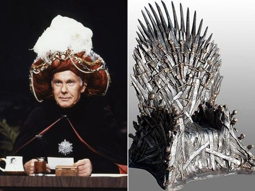 "The prize in the late-night battle, equivalent to the Iron Throne of ""Game of Thrones,"" is the top spot in the Nielsen ratings, which has traditionally been held by whomever sits at the Burbank desk once held by the ""king of late night,"" Johnny Carson, on NBC's venerable ""Tonight Show."""