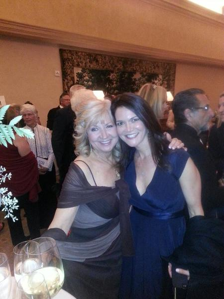 Sande St. John, pictured with her daughter-in-law Maria St. John, was honored at the Legacy Ball last weekend put on by Laguna Beach seniors.