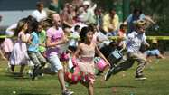 The annual Easter egg hunt will once again take place on Sunday at Laguna Beach High School's baseball field.