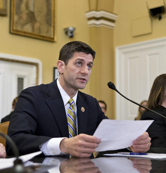 House Budget Committee Chairman Rep. Paul Ryan (R-Wis.) appears before the House Rules Committee to testify on his party's budget proposal at the Capitol in Washington.