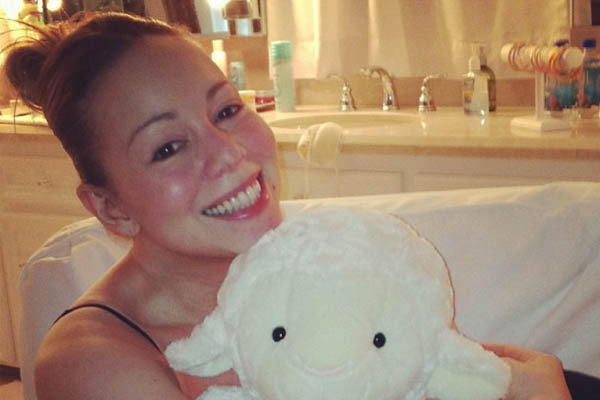 "Mariah Carey shared this photo of herself without makeup for ""Worldwide Lamb Day,"" which suspiciously resembles her birthday."