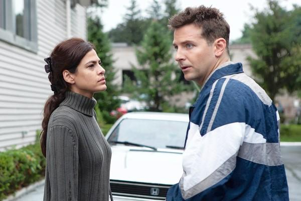 "Eva Mendes and Bradley Cooper star in ""The Place Beyond the Pines."""