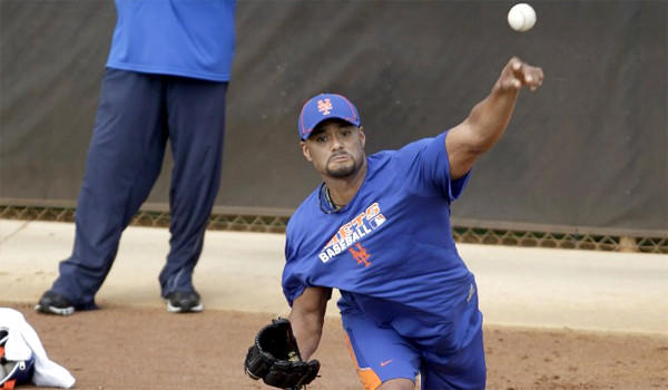 Johan Santana has potentially re-torn the anterior capsule in his left should that could require a season-ending surgery to repair.
