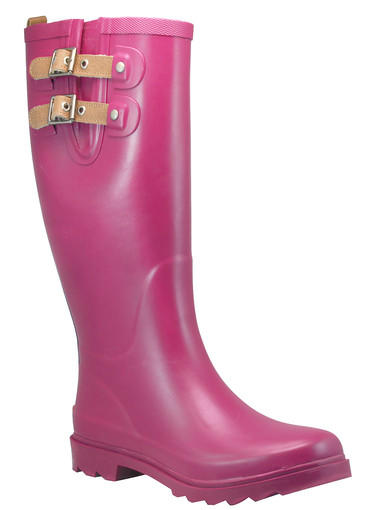 Chooka women's top solid boot in berry, $65.
