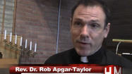 The Rev. Rob Apgar-Taylor, pastor of Veritas United Church of Christ, lives in Hagerstown with his husband, but despite the state of Maryland voting to legalize same-sex marriage in November, he and his spouse still do not have access to any federal benefits, and he has to file his taxes as a single man due to the 1996 Federal Defense of Marriage Act.