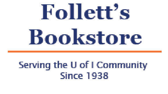 A screen grab from the Follett's Bookstore at the University of Illinois.
