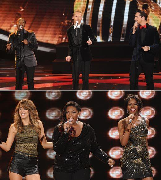 'American Idol' Season 12 best and worst moments: There were two trios during the Top 8 performances -- a girl-group trio that made us want to run right out and buy their album, and a boys trio that was maybe the worst thing weve ever seen on a Top 10 and up live show. Oof.  The best part? Watching the boys throw one another under the bus afterward.