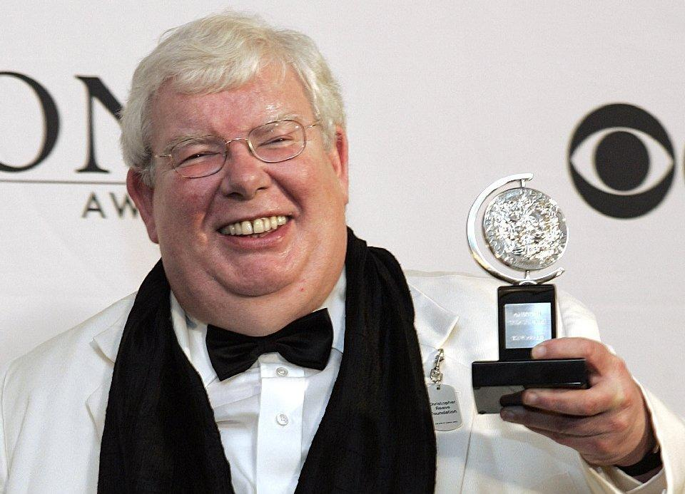 "Richard Griffiths of ""The History Boys"" poses for a picture with his Tony for best performance by a leading actor in a play at the 60th Tony Awards."