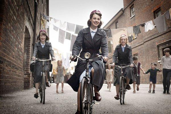 "A scene from the BBC show ""Call the Midwife."""
