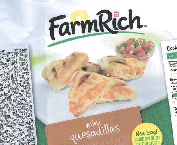 Farm Rich quesadillas have been recalled because of possible E. coli contamination.