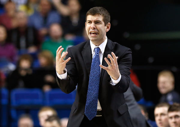 Head coach Brad Stevens of the Butler Bulldogs.
