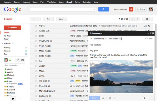 how to change contact default email in gmail