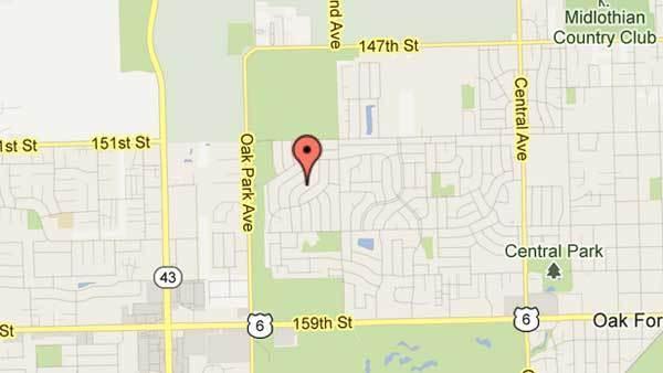 15300 block of Walnut Road in Oak Forest.