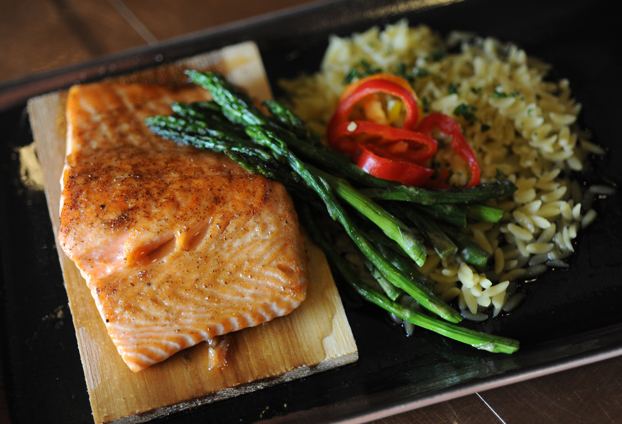 New food items at Oriole Park, and some returning favorites [Pictures] - Cedar plank salmon