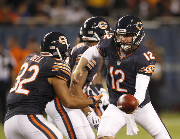 Chicago Bears quarterback Josh McCown (12) during a preseason game in August.
