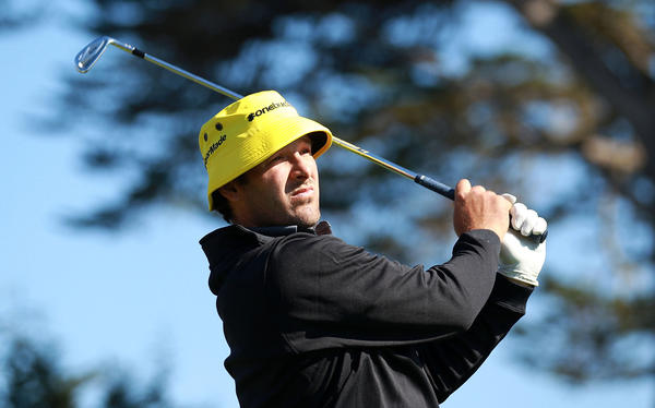 Tony Romo of the Dallas Cowboys watches his tee shot on the 17th hole during the third round of the AT&T Pebble Beach National Pro-Am at Pebble Beach Golf Links on Feb. 9.