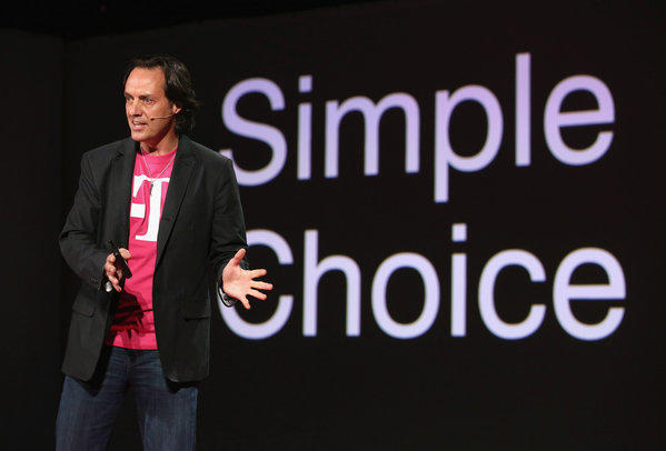 T-Mobile CEO John Legere announces a no-contract plan called the Simple Choice Plan.