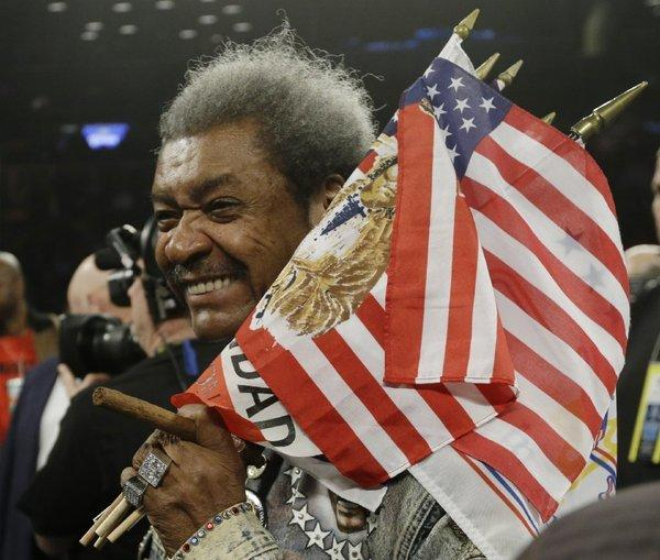Don King is the promoter of the April 12 boxing match at Treasure Island in Las Vegas.