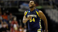 Davante Gardner doesn't start for Marquette's basketball team. He doesn't lead the Golden Eagles in scoring, rebounding or assists. Indeed, the most notable number associated with Gardner may be his weight — he carries 290 pounds on a 6-foot-8 frame.