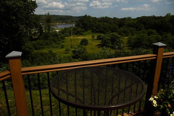 The 17 acres of land behind the Riverhouse at Goodspeed in Haddam is currently state-owned but could soon be privately owned in exchange for an 87 acre piece of land.