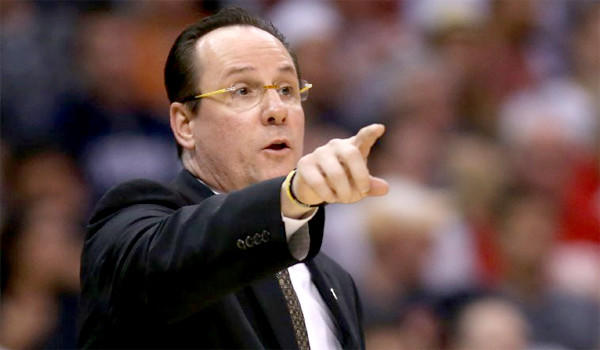 Wichita State Coach Gregg Marshall is one of several coaches who have been mentioned as a candidate for the vacant UCLA job, but he says he's happy where he is now.