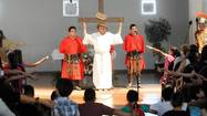 CALEXICO – Members of Our Lady of Guadalupe Catholic Church's youth ministry led a packed audience through the iconic Stations of the Cross during a Friday performance marking Good Friday.