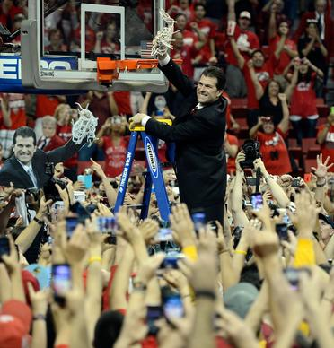 Steve Alford and New Mexico won the Mountain West Conference regular-season and tournament titles each of the last two seasons. He has a career coaching record of 463-235, a .663 winning percentage.
