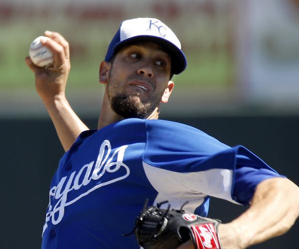 City starter pitcher James Shields delivers a pitch against the Athletics during the second inning.