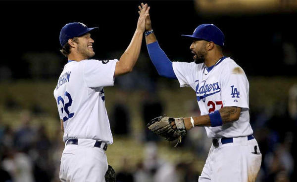 Clayton Kershaw, left, and Matt Kemp are the face of the Dodgers, the ace pitcher and slugging center fielder. But baseball teams rely on more than talent, with chemistry and camaraderie key ingredients among champions.